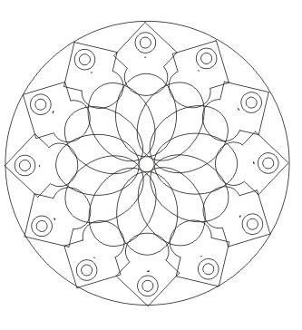 Mandala Malvorlagen | Mandala ausdrucken