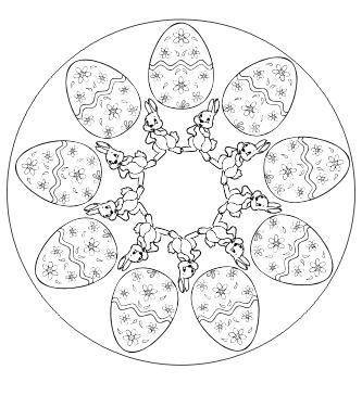Mandala Ostern Ausdrucken