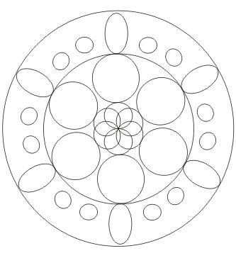 Mandala Vorlage zum ausdrucken