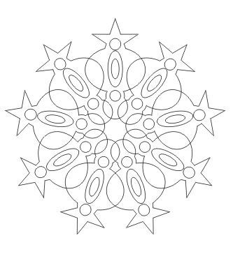 Mandala ausgemalt  zum ausdrucken