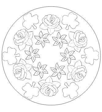 Mandala mit Blumen zum ausdrucken