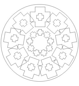 Mandala mit Kreuzen zum ausdrucken