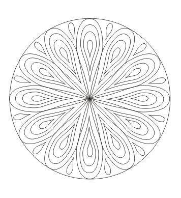 Mandala mit Tropfen zum ausdrucken