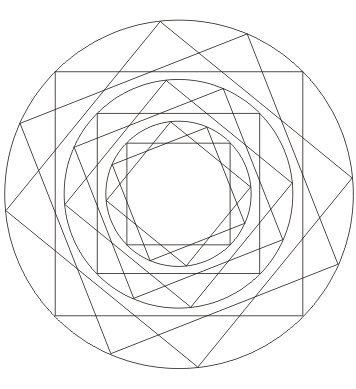 Quadrat Mandala zum ausdrucken