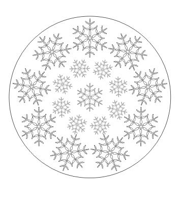 Schneeflocken Mandala zum ausdrucken