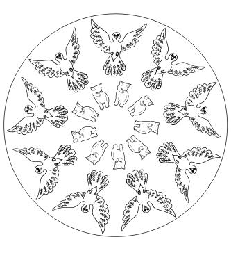 Tier Mandala zum ausdrucken