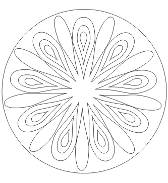 Tropfen Mandala zum ausdrucken
