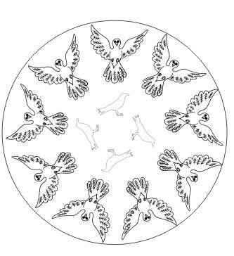 Vogel Mandala zum ausdrucken