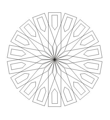einfaches Mandala  zum ausdrucken