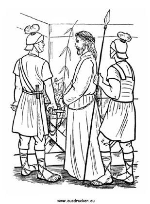 ausmalbilder ostern - ausmalbild ostern jesus 03