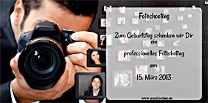 Gutschein Fotoshooting | Fotoshooting Ausdrucken von Vorlagen