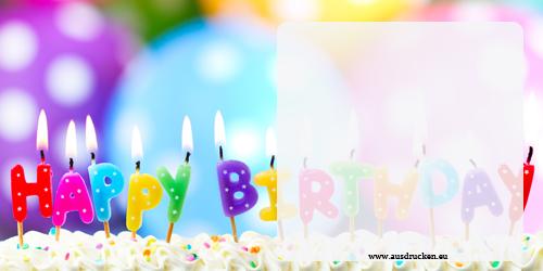 Geburtstagsgutscheine Zum Ausdrucken