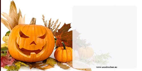 Halloween Kürbis Karten | Halloween Kürbis Ausdrucken von Vorlagen