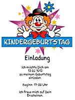 einladungen kindergeburtstag | einladungskarten kindergeburtstag, Einladung