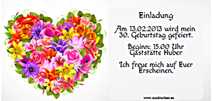Einladungen zum Geburtstag ausdrucken