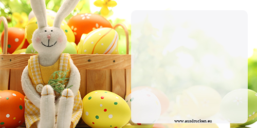 Osterkarte drucken