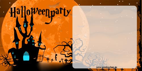 halloween karten einladungen | halloween einladungen ausdrucken, Einladungsentwurf