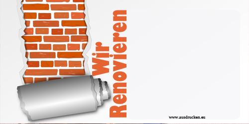 Einladungen Renovierung | Renovierung Ausdrucken von Vorlagen
