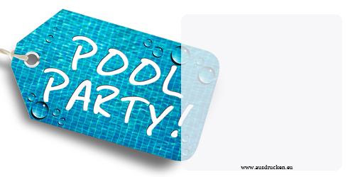 Fein Pool Party Einladungen Vorlagen Zeitgenössisch ...