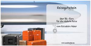 Verschiedene Reisegutscheine ausdrucken
